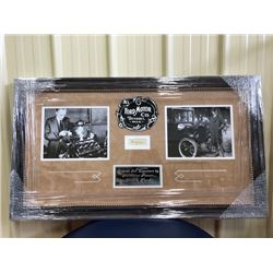 ORIGINAL INK SIGNATURE OF AUTOMOTIVE PIONEER HENRY FORD. BEAUTIFULLY FRAMED AND INCLUDES COA