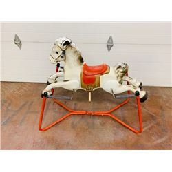 RARE VINTAGE BOUNCY HORSE RIDE ON TOY WITH SPRINGS