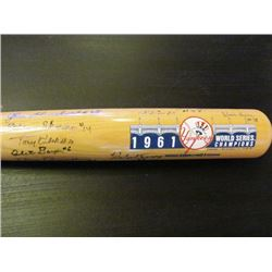 AUTOGRAPHED NY YANKEES 1961 WORLD CHAMPION COOPERSTOWN BAT