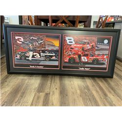 SAM BASS EXCLUSIVE NASCAR COLLECTION!  LIMITED EDITION PRINT FEATURINNG #3 DALE EARNHARDT SR AND #8