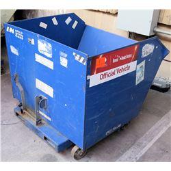 """Vestil Self-Dumping Hopper w/Wheels, Model H-150-LD, 49""""L x 46.5""""W x 43.5""""H"""
