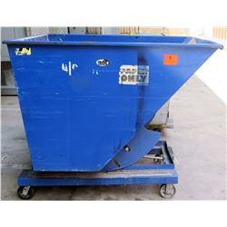 "Vestil Self-Dumping Hopper w/Wheels, 65.5""L x 60""W x 56""H"