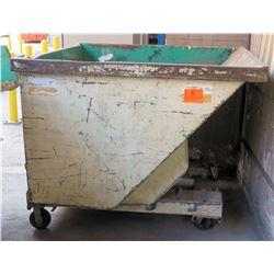 "Self-Dumping Hopper w/Wheels, 57""L x 57""W x 46""H"