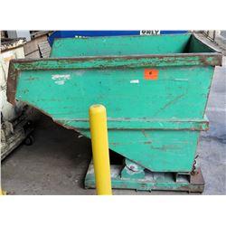 "Self-Dumping Hopper, No Wheels, 66""L x 46.5""W x 49""H"