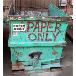 "Self-Dumping Hopper, No Wheels, 67""L x 46""W x 49""H"