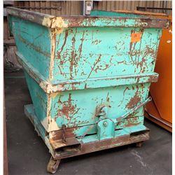 "Self-Dumping Hopper w/Wheels, 65""L x 45""W x 54.4""H"