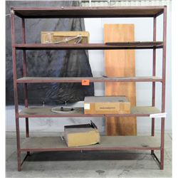 """Metal/Wood 4-Shelf Storage Rack, 83""""L x 24""""W x 91""""H"""