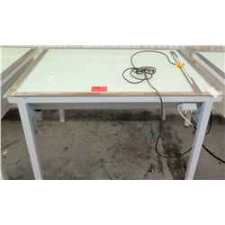 "Light Table, 55""L x 43""W x 36""H"
