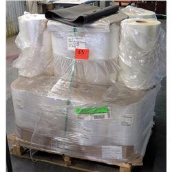 Pallet of Plastic Rolls