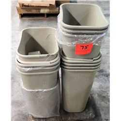 Qty 14 Plastic Waste Receptacles