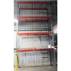 "Pallet Racking, Single Section, Approx. 102""L x 44""W"