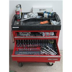 Craftsman Locking / Rolling Tool Chest, Filled with Tools