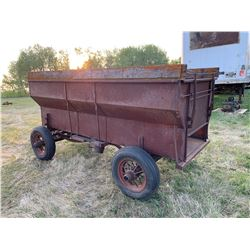 Antique Steel Grain Wagon