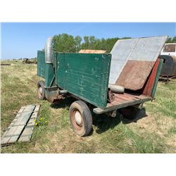 Antique Grain Blower Wagon