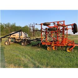 1991 Bourgault 8800 air seeder w/2155 Bourgault Air Tank