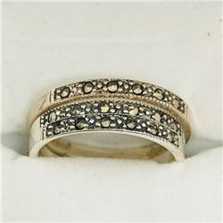 52) LOT OF 3 STERLING SILVER MARCASITE RINGS