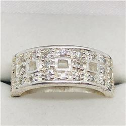 60) STERLING SILVER CUBIC ZIRCONIA RING