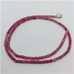 75) STERLING SILVER PINK SAPPHIRE NECKLACE