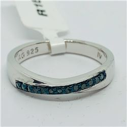 85) STERLING SILVER SAPPHIRE RING
