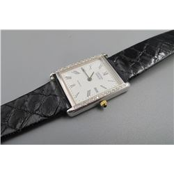 "BMO 14k,""Cristian geneve"",inlay diamonds watch, condition as is show in photo."