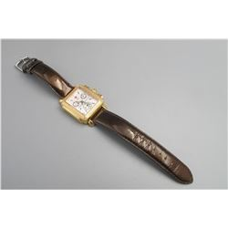 Swiss  stainless gold gild inlay diamonds watch, condition as is show in photo.
