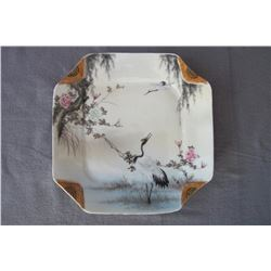 A square plate,famille-rose,early 20 century,