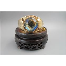 "Large natural sapphire(around 50 karat),""sarah cov"",bangle. condition as is show in photo."