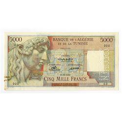 Banque de l'Algerie. ND (1940's-1950's). Specimen Banknote.