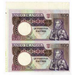 Banco de Angola, 1973 Uncut Progress Proof Pair.