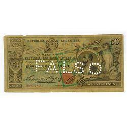 Banco de la Provincia de Santiago del Estero. 1888. Contemporary Counterfeit Banknote.