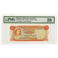 Bahamas Monetary Authority, 1968 Issued Banknote.