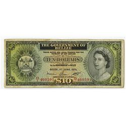 Government of Belize, 1975 Issued Banknote.