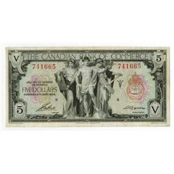 Canadian Bank of Commerce, 1935 Issued Banknote.