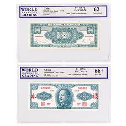 Central Bank of China, 1949 Essay Specimen Banknote.