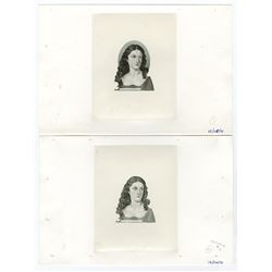 Banco De La Republica, 1971 (1972-73) Issue Portrait Progress Vignette Proof Pair.