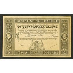 Danske Vestindiske. 1898 Issue Banknote.
