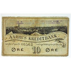 Aarhus Kredit Bank, ND (ca.1890-1900) Scrip Note.