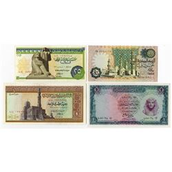 Central Bank of Egypt. 1961-1981. Quartet of Issued First Prefix Banknotes.