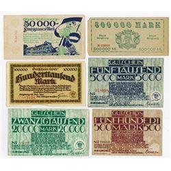 Notgeld Issues. 1922-1923. Siegburg Assortment.