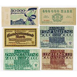 Notgeld Issues. 1922-1923. Siegburg Assortment.