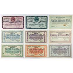 Notgeld Issues. 1923. Hennef Inflation Assortment.