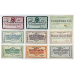 Notgeld Issues. 1923. Hennef Inflation Assortment.
