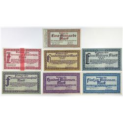Notgeld Issues. 1923. Siegburg Inflation Assortment.