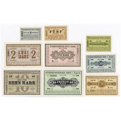 Notgeld Issues. ND. (ca.1916-18) Hesepe b. Bramsche Officer POW Camp Set.