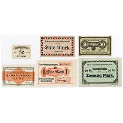 Notgeld Issues. 1916-1920. Officer & POW Camp Assortment.