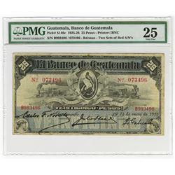 "Banco de Guatemala, 1925) ""Reissue""  Issue Banknote."