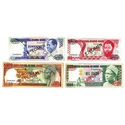 Banco Nacional da Guine-Bissau, 1978-1984, Quartet of Specimens
