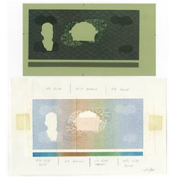 Banco Central De Honduras Unique Undertint Obverse Printing Plate With Printed Undertint.