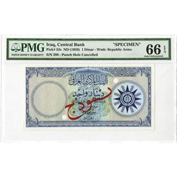 Central Bank of Iraq. ND (1959). Specimen Note.
