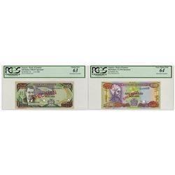 Bank of Jamaica. 1986-1994 Specimen Banknote Pair.